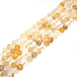 1 Strand of 8mm Round Semiprecious Gemstone Beads - Natural Yellow Quartz