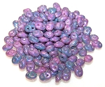 7.5 Grams - Superduo Beads - Nebula Chalk
