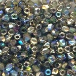 4 Dozen Czech 2mm Fire-Polished Glass Beads - Olive Gold Rainbow