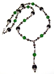 Onyx Forest Necklace Beaded Jewelry Making Kit