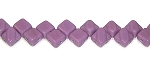40 Czech Glass Silky 2-Hole 6mm Beads - Opaque Purple