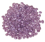 7.5 Grams - Superduo Beads - Opal Violet White Luster
