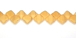 40 Czech Glass Silky 2-Hole 6mm Beads - Opaque Beige