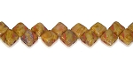 40 Czech Glass Silky 2-Hole 6mm Beads - Opaque Grey Travertine