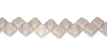 40 Czech Glass Silky 2-Hole 6mm Beads - Opaque Grey