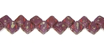 40 Czech Glass Silky 2-Hole 6mm Beads - Opaque Purple Travertine