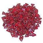 5 Grams of Czech Glass 4mm Tri-Beads - Opaque Red Picasso