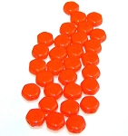 30 Czech Glass 6mm Honeycomb Hex 2-Hole Beads - Orange