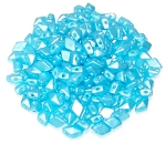 5 Grams of MINI DiamonDuo 2-Hole Czech Glass 4x6mm Beads - Pastel Aqua