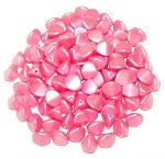 7.5 Grams of Czech 7mm Pinch Beads - Alabaster Pastel Light Coral
