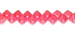 40 Czech Glass Silky 2-Hole 6mm Beads - Pastel Light Coral