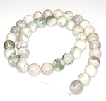 1 Dozen 10mm Round Semiprecious Gemstone Beads - PEACE JADE