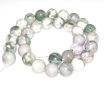 6 Peace Jade 12mm Round Semiprecious Gemstone Beads