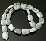 6 Peace Jade 12x16mm Puff Rectangles Semiprecious Gemstone Beads