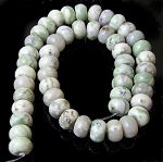 1 Dozen Peace Jade 12x8mm Puff Rondelle Semiprecious Gemstone Beads