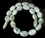 6 Peace Jade 13x18mm Puff Oval Semiprecious Gemstone Beads