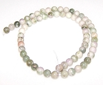 1 Dozen 6mm Round Semiprecious Gemstone Beads - PEACE JADE