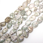1 Strand of Semiprecious Gemstone Large Nugget Beads - Peace Jade