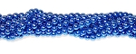 1 Strand of Czech Glass 4mm Pearl Beads - Persian Blue