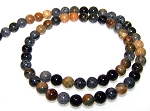 1 Strand of 6mm Round Semiprecious Gemstone Beads - Picasso Jasper