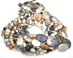 Picasso Jasper Semiprecious Gemstone Beads - 10 Strand Set