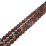 1 Strand of 8mm Round Semiprecious Gemstone Beads - Pietersite