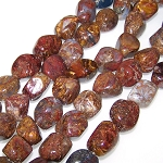 1 Strand of Semiprecious Gemstone Large Nugget Beads - Pietersite