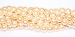 1 Strand of Czech Glass 8mm Pearl Beads - Pink Glow