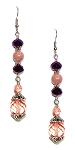 Plum Breeze Earrings Beaded Jewelry Making Kit