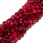 4 Dozen Czech 6mm Fire-Polished - Crystal Pomegranate Metallic Ice