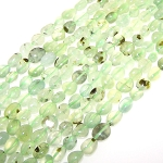 1 Strand of Prehnite 7x10mm Irregular Nuggets Semiprecious Gemstone Beads