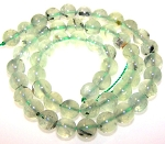 1 Dozen 8mm Round Semiprecious Gemstone Beads - Prehnite