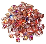 5 Grams Of MINI DiamonDuo 2-Hole Czech Glass 4x6mm Beads - Prismatic Phoenix