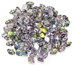 5 Grams Of MINI DiamonDuo 2-Hole Czech Glass 4x6mm Beads - Prismatic Tropics