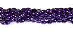 1 Strand of Czech Glass 6x4mm Pearl Beads - Purple