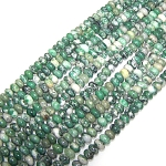 1 Strand of 8x5mm Puff Rondelle Semiprecious Gemstone Beads - Qinghai Jade