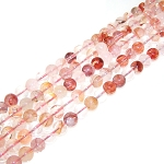 1 Strand of 8mm Round Semiprecious Gemstone Beads - Red Crystal Quartz
