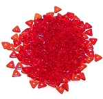 5 Grams of Czech Glass 4mm Tri-Beads - Red