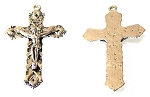 5 Pack of Pewter Crucifix #54 - 52x29mm