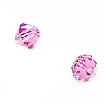 1 Dozen Preciosa 6mm Bicones - Rose