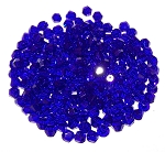 50 Royal Blue 4mm Glass Crystal Bicones