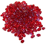 7.5 Grams of MiniDuo Czech Glass Beads - Ruby Celsian