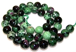 1 Dozen Ruby Zoisite 10mm Round Semiprecious Gemstone Beads