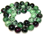 6 Ruby Zoisite 12mm Round Semiprecious Gemstone Beads