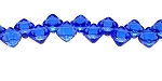 40 Czech Glass Silky 2-Hole 6mm Beads - Sapphire