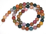 1 Strand of 8mm Round Semiprecious Gemstone Beads - Sea Jasper