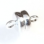 2 Silver-Plated 6x4mm Super Strong Magnetic Clasps