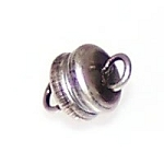 5 Antique Silver-Plated 6x4mm Super Strong Magnetic Clasps