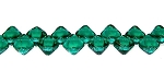 40 Czech Glass Silky 2-Hole 6mm Beads - Teal