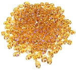 7.5 Grams of MiniDuo Czech Glass Beads - Topaz Luster